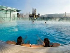 Bathe at the Thermae Spa overlooking the rooftops of Bath