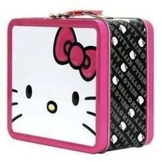 Hello Kitty Face Pink Bow Lunchbox -- Details can be found by clicking on the image.(It is Amazon affiliate link) #HelloKitty