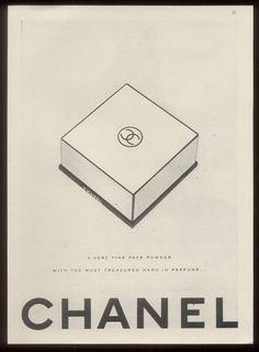 vintage Chanel Powder Ad