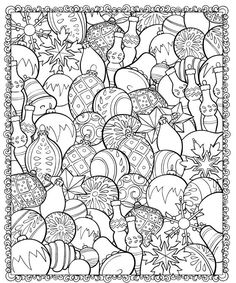 Coloring for adults - Kleuren voor volwassenen Mandala Noel, Christmas Colors, Christmas Baubles, Christmas Ornament, Coloring Pages For Grown Ups, Coloring Pages To Print, Printable Coloring Pages, Coloring Pages For Kids, Coloring Sheets