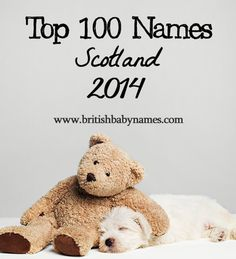 The official Scotland stats for 2014 are out today. Jack and Emily are both #1. Eilidh, Iona, Mirren, Arran, Ruaridh, Murray, Blair and Calvin also grace the top 100.