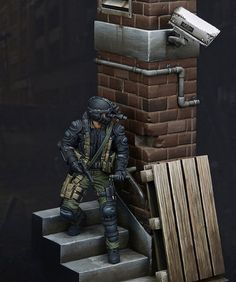 75mm unpainted resin model kit - sniper soldier minifigure toy miniature hobby #Unbranded