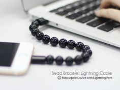 On the first look this might seem like a bead bracelet alone but the Bead Bracelet Lightning Cable has a lot in store.