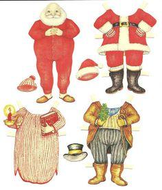 JORNAL PONTO COM: Papai Noel boneco de papel para recortar e vestir, montar! Linda atividade de Natal!