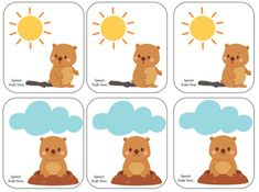 Groundhog Day {Freebie} - Re-pinned by @PediaStaff – Please Visit http://ht.ly/63sNt for all our pediatric therapy pins