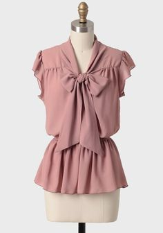Keen On You Peplum Bow Blouse | Modern Vintage New Arrivals