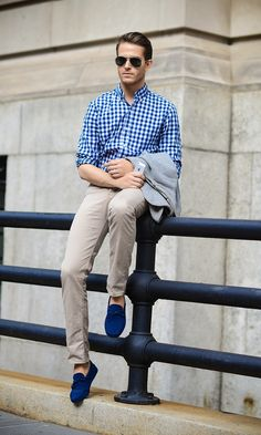 Checked Blue Gingham.
