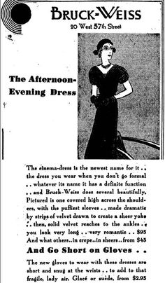 Ad from New York Times, 07 Oct 1931. Vintage Advertisements, Ads, New Names, New York Times, Evening Dresses, Memes, Sleeves, Pictures, Beauty