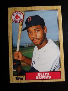 1987 Topps Traded #14T Ellis Burks Boston Red Sox Baseball RC Rookie Card #BostonRedSox