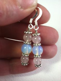 MOONSTONE ROSE QUARTZMoonstones with Pretty Rose by SallyStones
