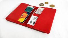 Leather Passport Wallet  Men's Leather Wallet  Mens