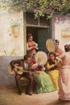 Tambourine Tambourine, Classical Art, Art Music, Amazing Art, Renaissance, Aesthetics, Paintings, Workout, Illustration