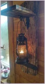 For my tinkerbell and captain hook guest cabin, vintage lighting, rustic lighting, diy Barn Wood, Rustic Wood, Rustic Decor, Farmhouse Decor, Farmhouse Garden, Diy Wood Projects, Wood Crafts, Diy Crafts, Rustic Furniture