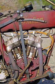 Indian Powerplus — Plus - Classic American Motorcycles - Motorcycle Classics Indian Motorbike, Vintage Indian Motorcycles, Antique Motorcycles, American Motorcycles, Vintage Bikes, Indian Cycle, Harley Davidson Engines, Indian Motors, Motorcycle Companies