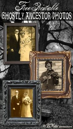 Free Printable Ghostly Ancestor Halloween Photos: Perfect for a Spooky Decoration