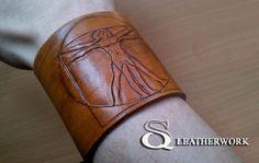 Vitruvian bracelet by SqLeatherwork on DeviantArt