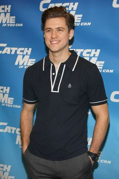 Aaron Tveit, he has the cutest dimples/ face crinkle thing ever!! <3