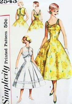 Hey, I found this really awesome Etsy listing at https://www.etsy.com/listing/216405928/50s-cocktail-party-dress-pattern