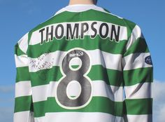 Celtic F.C. Home Shirt 2005-02006 Thompson 8 Signed SPL Player Issue