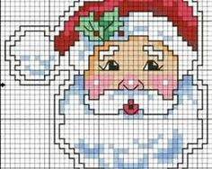 pai natal em ponto de cruz - Yahoo Image Search Results