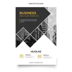 Modern business brochure template Free V. Design Brochure, Booklet Design, Brochure Layout, Graphic Design Layouts, Graphic Design Posters, Leaflet Template, Brochure Template, Templates Free, Adobe Illustrator
