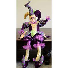 Sitting Jester Mardi Gras Doll (36-inch)