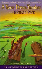 """Read A Year Down Yonder (Newbery Medal Book) children book by Richard Peck . Winner of the Newbery Medal """"Peck charms readers once again with this entertaining sequel to A Long Way from Chicago""""—S. CLICK the link and GET the BOOK Newbery Award, Newbery Medal, American Library Association, Dealing With Difficult People, American Children, Family Road Trips, Reading Challenge, Book Publishing, Audio Books"""