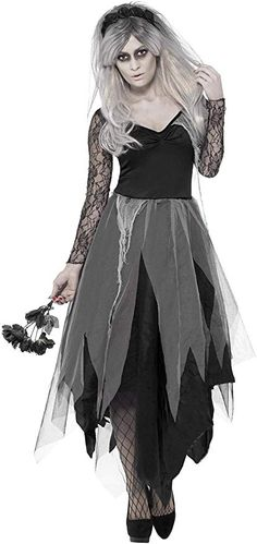 Plus size zombie dress overalls Zombie Costume Women, Halloween Costumes For Teens, Baby Halloween, Costumes For Women, Bride Costume, Overall Dress, Color Negra, Marie, Goth