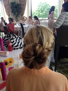 Hair styling and airbrush makeup company in Houston Texas - braided bun