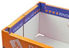REGALO - das innovative Regalverpackungssystem • Zusätzlich bedruckbare Werbeflächen auf der Innenseite • #T4P, #Lebensmittelverpackung, #Wurstverpackung Fruit Packaging, Terracota, Box, Ideas, Packaging, Food Packaging, Meat, Shelf, Products