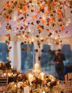 Who says you can't have hanging floral arrangements in the Fall?