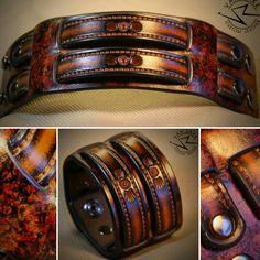 Van Zakk custom Leather cuff bracelet