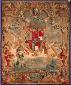 Armorial Tapestry (ca. 1690) by David Teniers the Younger, Jeroen Le Clerc De Young Legion of Honor Fine Arts Museums of San Francisco