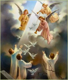 Resurrection of Jesus Christ! Angel Pictures, Jesus Pictures, Angel Hierarchy, Sainte Rita, Apostles Creed, Catholic Pictures, Angel Guide, I Believe In Angels, Angels Among Us