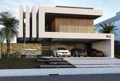 new house design Architecture Design, Modern Architecture House, Facade Design, Exterior Design, Bungalow House Design, House Front Design, Home Building Design, Building A House, Modern Villa Design