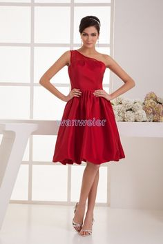free shipping brides maid dress 2017 new arrival one shoulder plus size  women s formal gown mint red beading bridesmaids dresses-in Bridesmaid  Dresses from ... 43878841859d