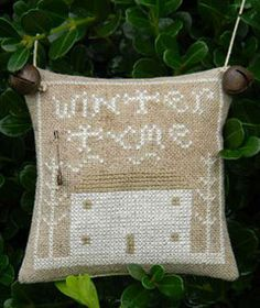 Winter Tyme Cross-Stitch Pattern.  Freebie from Lori at Notforgotten Farm. Country Sampler Mag