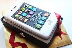 Teen Birthday Cake Ideas-I Phone Cake (birthday food ideas for teens) Teen Boy Birthday Cake, 15th Birthday Cakes, Birthday Cakes For Teens, Cool Birthday Cakes, 13th Birthday, Birthday Ideas, Teen Boy Cakes, Cakes For Boys, Iphone Cake