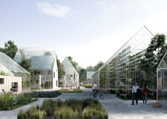 Danish studio EFFEKT has envisioned a self-sustaining, off-grid village of greenhouse properties, on show in the Danish Pavilion during the Venice Biennale