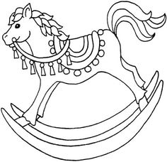 Toy Animal coloring page | Kids Rocking Horse | Coloring Pages ...