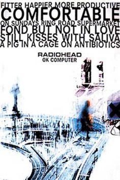 Radiohead OK Computer Fitter Happier Music Poster 24x36