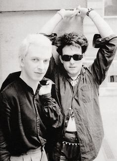 "sleeping-like-a-marble-girl: ""Steven Severin and Robert Smith 1983 (found on fb, The Glove -Blue Sunshine) """