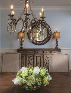 Dining Room Buffett style. Lauren Nicole Designs | Dining Room Interior Design Charlotte NC Weddington