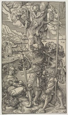 Mercenaries and A Woman with Death in a Tree, 1524 Urs I Graf (Swiss, c. 1485-1527/29) woodcut, . Dudley P. Allen Fund 1942.118