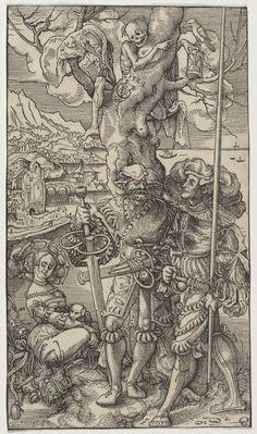 "Death, ""death And The Landsknecht"", Woodcut By Urs Graf, 1524 Stockfoto, Lizenzfreies Bild: 33341489 - Alamy Medieval Art, Renaissance Art, Medieval Drawings, Vanitas, Memento Mori, Dance Of Death, Landsknecht, Skeleton Art, Danse Macabre"