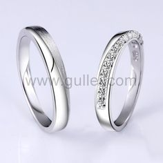 Name Inscribed Engraved Promise Rings for Girlfriend and Boyfriend