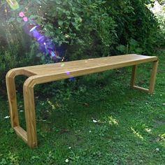 Oak bench internal/external Handmade Wood Furniture, Bespoke Furniture, Oak Bench, Oak Dining Table, Single Piece, Solid Oak, Outdoor Furniture, Outdoor Decor, Contemporary