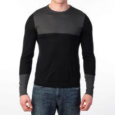 NY Based: Color Block Shirt Charcoal Black, at 52% off!
