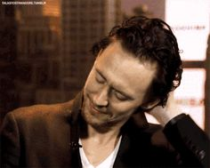 Tom Hiddleston being adorable.