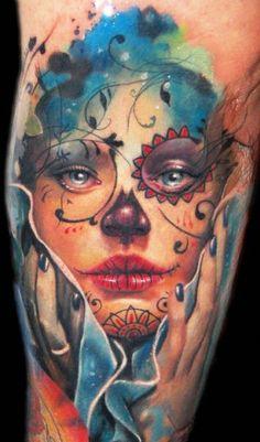 Tattoo Artist - Alex De Pase - www.worldtattoogallery.com/tattoo_artist/alex_de_pase Skull Tattoo Design, Skull Tattoos, Body Art Tattoos, Tattoo Designs, Portrait Tattoos, Tatoos, Skull Design, Miami Ink Tattoos, Makeup Tattoos